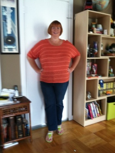Week 5 with pants two sizes down and a shirt one size down.  Yeah to non-sleeve victories!