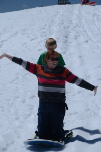 "My ""tah-dah!"" moment after sledding for the first time with my new body!"