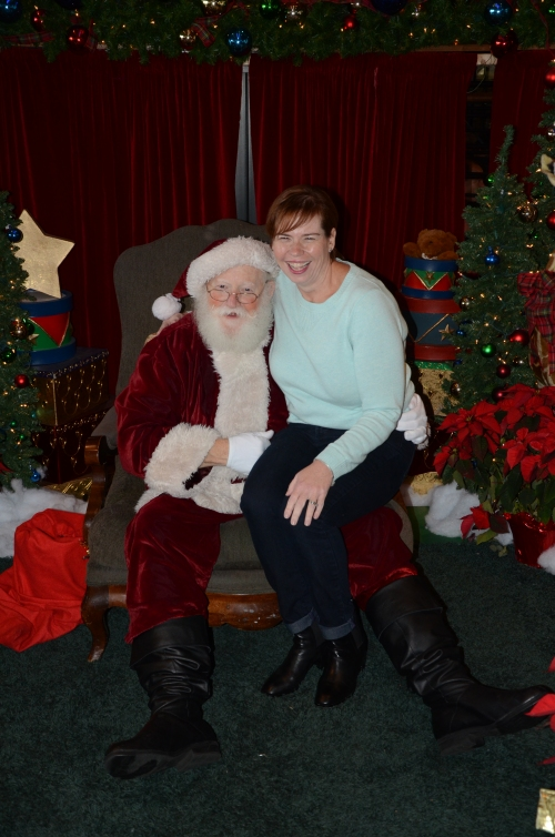 Another Christmas and another year of me sitting on Santa's lap!  Being 105 pounds lighter makes sitting on his lap much easier...for both of us!