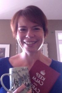 Here I am with my writing practice inspirations:  my journal and coffee!