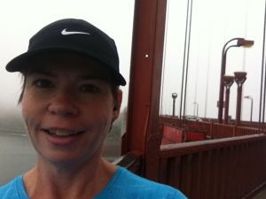 Here I am running on the Golden Gate Bridge for fun, not for speed or distance!  My 100+ pound weight loss sure makes it easier and fun to exercise!