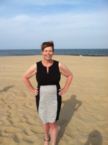 Here I am embracing a sleeveless dress!  Something I wouldn't have done before my weight loss journey.