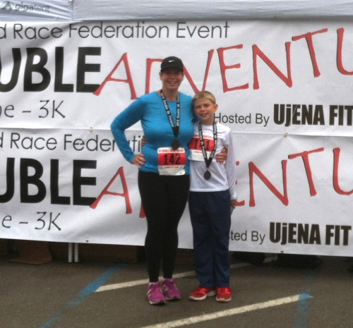 Here we are after running our first 8K race!  I'm looking forward to sharing more runs with my son!