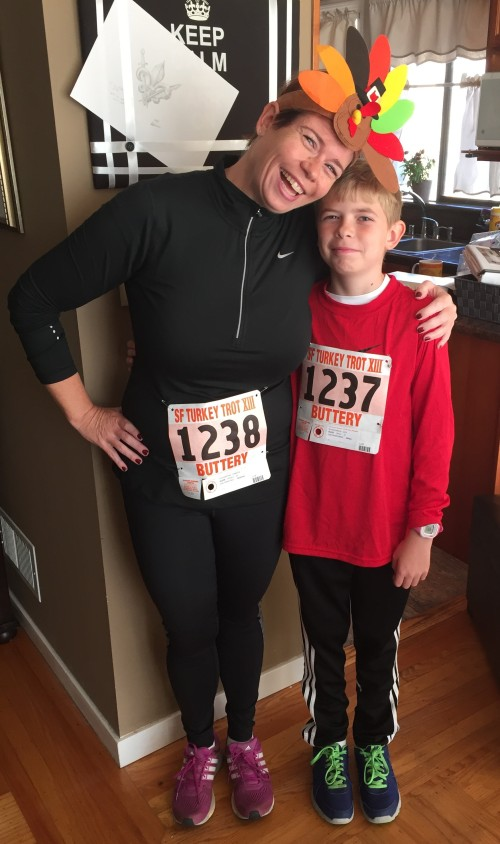 One of the best parts of running is having my son join me at races! He did his first Turkey Trot this year and next up is the Santa Run!