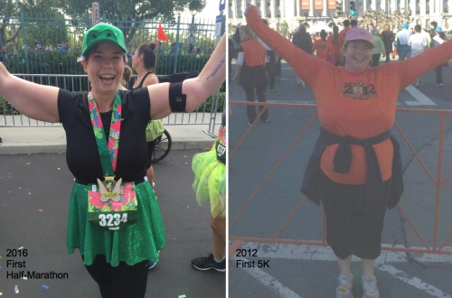 Here I am celebrating at my first half-marathon and my first 5K! Gastric sleeve surgery has changed me in so many ways!