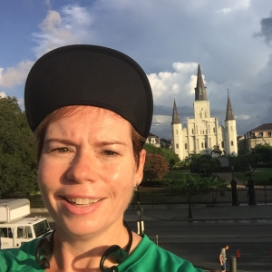 Here I am overlooking Jackson Square on my 7AM run in New Orleans. It was well worth the heat and humidity to run through this beautiful city. And the beignet at the end didn't hurt.