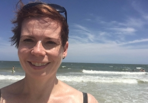 A visit to Florida isn't complete without a trip to the beach! Neither getting into a bathing suit or the big waves kept me from having fun in the surf with my family!