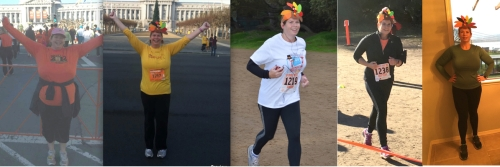 Five years and counting! I'm proud that since 2012, even before my gastric sleeve surgery, I've run a Thanksgiving race. Running keeps me going Down the Scale!